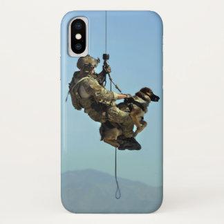 Capa Para iPhone X Soldado e caso militar de Iphone X do cão
