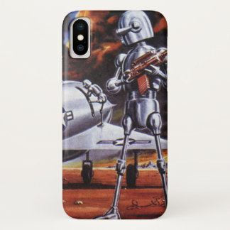 Capa Para iPhone X Soldados militares do robô da ficção científica do