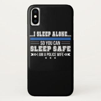 Capa Para iPhone X Sono da esposa da polícia apenas você pode dormir
