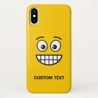 Capa Para iPhone X Sorrindo a cara com olhos abertos