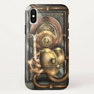 Capa Para iPhone X Steampunk no coração