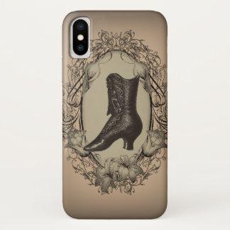 Capa Para iPhone X Steampunk parisiense dos calçados do Victorian do