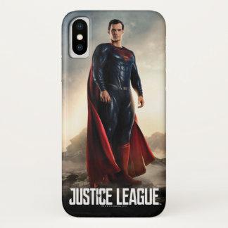Capa Para iPhone X Superman da liga de justiça | no campo de batalha
