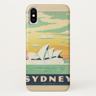 Capa Para iPhone X Sydney, NSW, poster vintage de Austrália