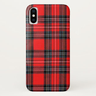 Capa Para iPhone X Tartan real do vintage