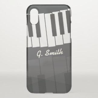 Capa Para iPhone X Teclado de piano preto e branco feito sob