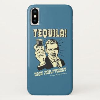 Capa Para iPhone X Tequila: Abraçou seu toalete hoje