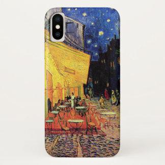 Capa Para iPhone X Terraço do café de Van Gogh em Lugar du Fórum,