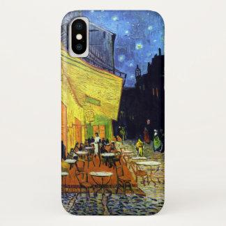Capa Para iPhone X Terraço do café na noite por Van Gogh