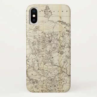 Capa Para iPhone X Território do mapa de Minnesota (1849)