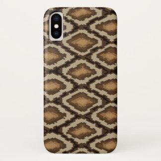 Capa Para iPhone X Teste padrão 2 da pele de cobra do pitão