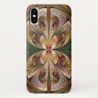 Capa Para iPhone X Teste padrão abstrato do vitral da borboleta do