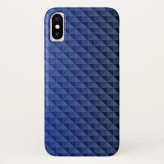Capa Para iPhone X Teste padrão bonito de triângulos azuis