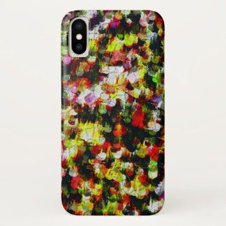 Capa Para iPhone X Teste padrão colorido abstrato moderno