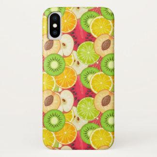 Capa Para iPhone X Teste padrão colorido da fruta do divertimento