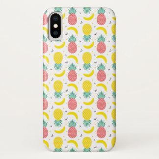 Capa Para iPhone X Teste padrão colorido da fruta tropical