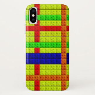 Capa Para iPhone X Teste padrão colorido dos blocos