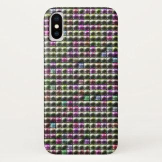 Capa Para iPhone X Teste padrão colorido quadrado moderno