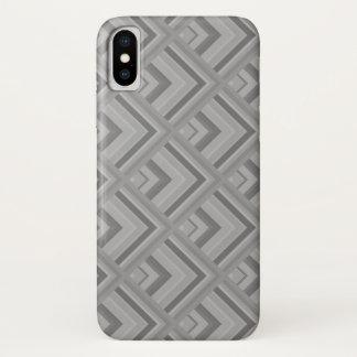 Capa Para iPhone X Teste padrão da escala cinzenta
