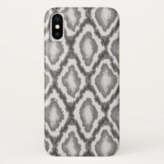 Capa Para iPhone X Teste padrão da pele de cobra do pitão