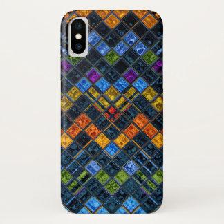 Capa Para iPhone X Teste padrão de mosaico do vitral