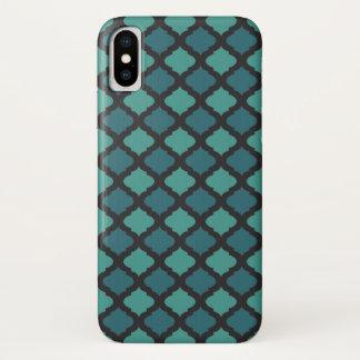Capa Para iPhone X Teste padrão de mosaico no estilo árabe