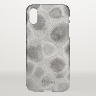 Capa Para iPhone X Teste padrão de pedra de Petosky