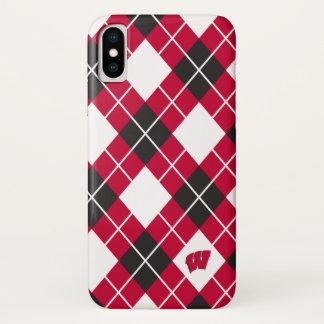 Capa Para iPhone X Teste padrão de Wisconsin | Argyle