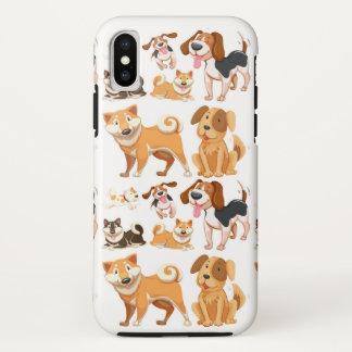 Capa Para iPhone X Teste padrão do cão