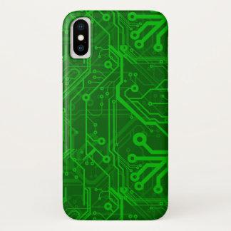 Capa Para iPhone X Teste padrão do conselho de circuito impresso do
