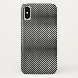 Capa Para iPhone X Teste padrão do diamante preto e branco