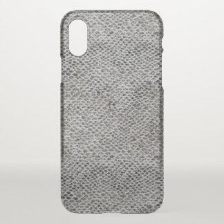 Capa Para iPhone X Teste padrão do preto e da pele de cobra de Brown