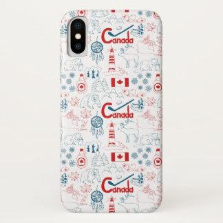 Capa Para iPhone X Teste padrão dos símbolos de Canadá |