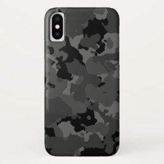 Capa Para iPhone X Teste padrão escuro de Camo