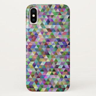 Capa Para iPhone X Teste padrão feliz do triângulo