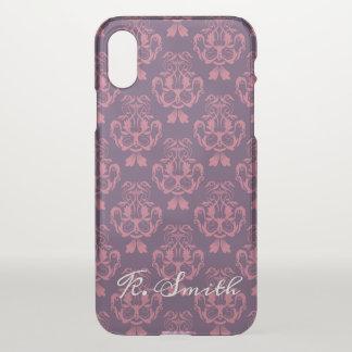Capa Para iPhone X Teste padrão floral. Damasco barroco. Adicione o