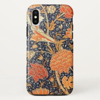 Capa Para iPhone X Teste padrão floral de Nouveau da arte de William