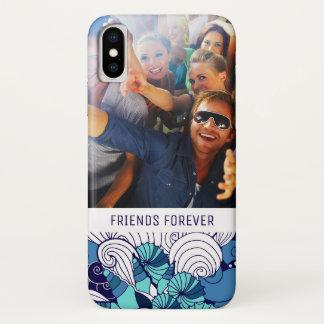 Capa Para iPhone X Teste padrão Funky | do Seashell seus foto & texto