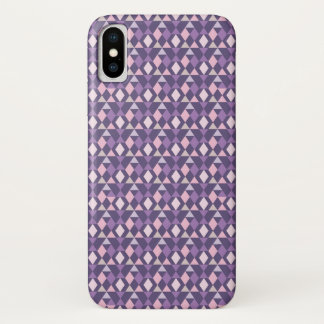Capa Para iPhone X Teste padrão geométrico árabe roxo
