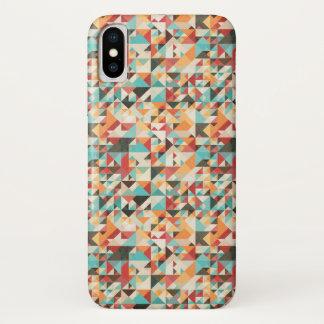 Capa Para iPhone X Teste padrão geométrico de Earthtone