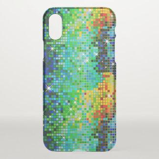 Capa Para iPhone X Teste padrão geométrico do brilho colorido do