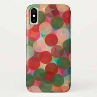 Capa Para iPhone X Teste padrão geométrico do Natal sem emenda