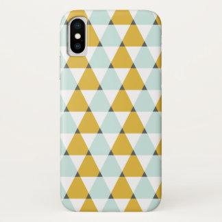 Capa Para iPhone X Teste padrão geométrico moderno dos triângulos do
