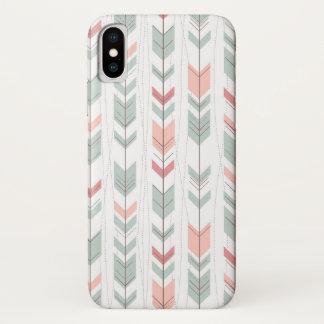 Capa Para iPhone X Teste padrão geométrico no estilo retro