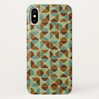 Capa Para iPhone X Teste padrão geométrico retro 3