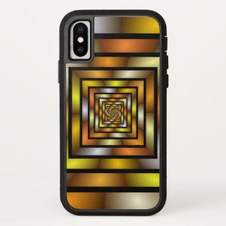 Capa Para iPhone X Teste padrão gráfico colorido do Fractal do túnel