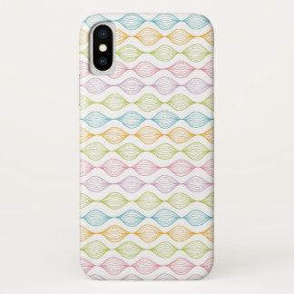 Capa Para iPhone X Teste padrão horizontal colorido do ogee