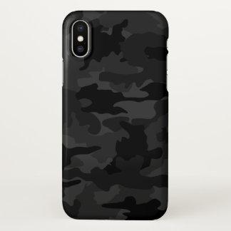 Capa Para iPhone X Teste padrão legal preto e das cinzas da