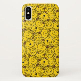 Capa Para iPhone X Teste padrão pequeno dos sorrisos do amarelo do