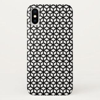 Capa Para iPhone X Teste padrão preto e branco do cubo